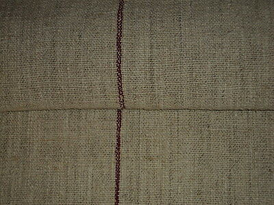 Antique European Feed Sack GRAIN SACK Red Stripes#1951
