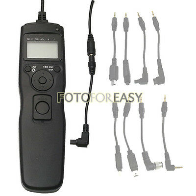 Timer Remote Cord Removable Shutter Cable for Canon 30D 40D 50D 1D 5D II III 7D