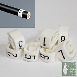 8mm Cable Plug Lead Numbers - Markers 1 to 8 - White