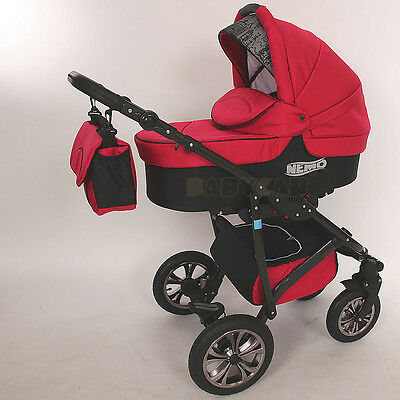 New Baby Travel System - SWIVEL WHEEL  PRAM - PUSHCHAIR - CAR SEAT 3in1 Buggy