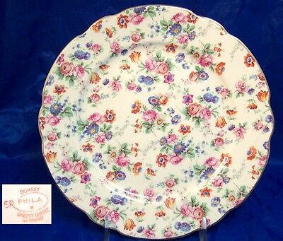 Dorset Cheery Chintz Erphila Germany Dinner/Luncheon Plate  Multiples Available