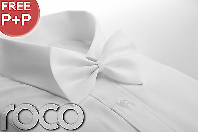 BOYS WHITE WEDDING PROM PAGE BOY DICKIE BOW TIE for tuxedo suits