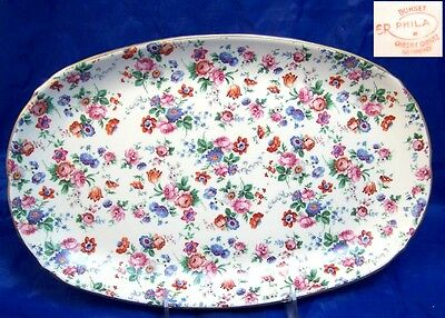 Dorset Cheery Chintz Erphila Germany 10.5 Oval Platter