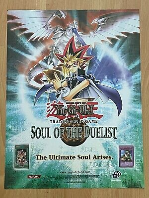"Yu-Gi-Oh Soul of the Duelist Poster 24""x18"" Official Konami Upper Deck Brand New"
