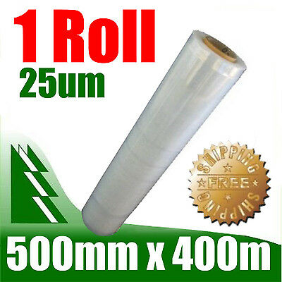 1 Roll 500mm x 400m 25um Clear Stretch Film Pallet Wrap Wrapping BEST PRICE