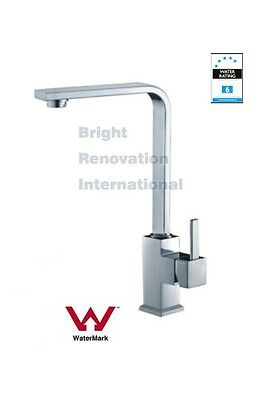 New WELS Square Cooby Arch Tall Kitchen Sink laundry Flick Mixer Tap Faucet