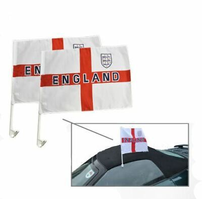 50 x England Car Flags -  World Cup Football 2018 Support