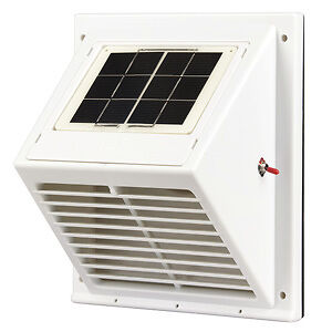 Solar POWERED Attic/wall Fan exhaust Vent Boat,Caravan,pet hutch,dog kennel