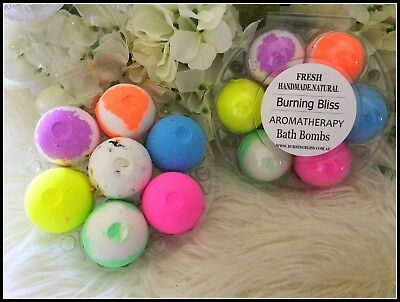 Aromatherapy Bubble Bath Bombs with Coconut Oil GIFT PACK OF 6 Bath Fizzies