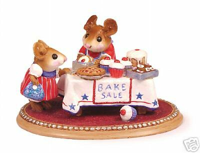 MOUSEY'S BAKE SALE by Wee Forest Folk, WFF# M-220s,  PATRIOTIC, LTD Retired 2005