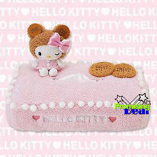 Cookies Hello Kitty Plush Pink Tissue Box Case Covers Holder