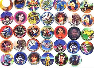 POGS - L-POWER34 01 Lot de 34 Pogs POWER RANGERS NEUFS