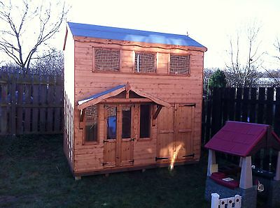 double storey playhouse / kids wendy house childrens heavy duty