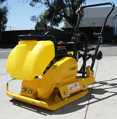 6.5HP 196cc  GAS POWER WALK BEHIND DIRT PLATE COMPACTOR TAMPER RAMMER w/ TANK