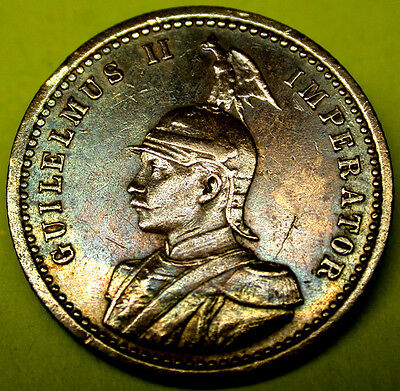 1904 A German East Africa 1/4 Rupie SCARCE GERMAN COLONIAL SILVER TONED Coin GEM