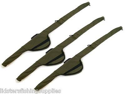 3 x NEW ROD + REEL HOLDALL SLEEVES BAG CARP FISHING PADDED FOR MADE UP CARP RODS
