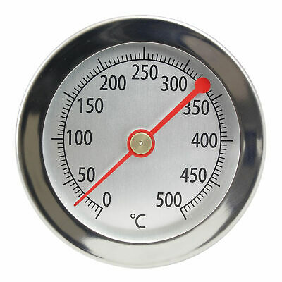 500 ° C Grad Abgasthermometer Abgas Bimetall Zeiger Thermometer 500°C