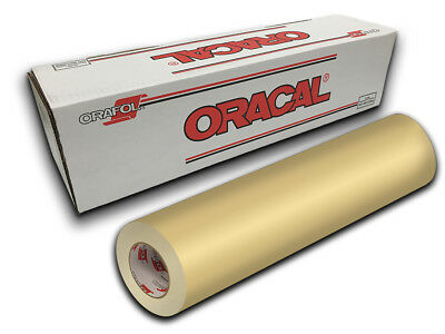 "24"" X 10ft - Cream Oracal 651 Intermediate Graphic & Sign Cutting Vinyl"