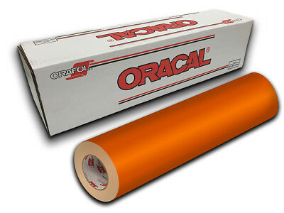 "24"" X 10ft - Light Orange Oracal 651 Intermediate Graphic & Sign Cutting Vinyl"