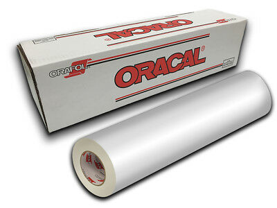 """24"""" X 10ft - White Gloss Oracal 651 Intermediate Graphic & Sign Cutting Vinyl"""