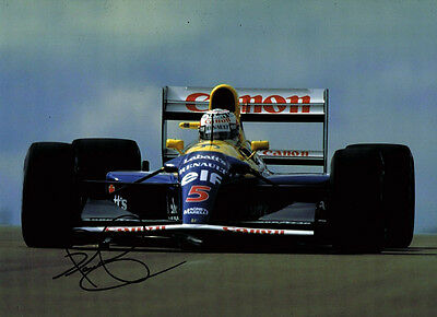 Nigel Mansell in Red 5 SIGNED Autograph F1 World Champion 16x12 Photo AFTAL COA