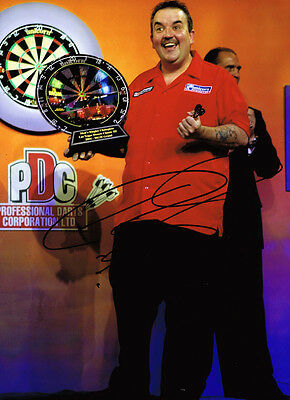 "Phil Taylor ""The Power"" SIGNED Autograph 15 World Champion 16x12 Photo AFTAL COA"