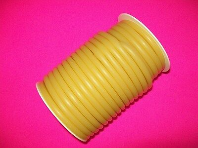 """New 50 Foot 1/4"""" I.D x 1/16 w x 3/8"""" O.D Latex Tubing Rubber Surgical Amber"""