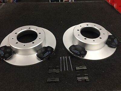 FITTING KIT LAND ROVER DEFENDER 110//130 1994/>16 REAR BRAKE DISCS /& PADS AP106