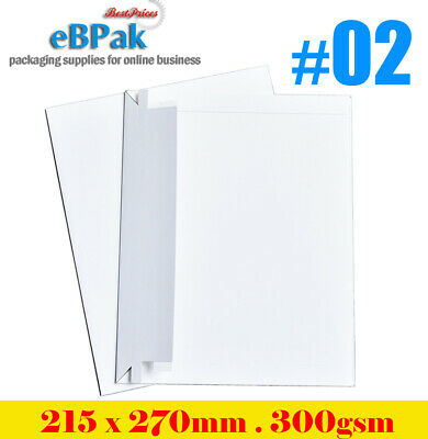 100x Card Mailer 215x270mm 300gsm Heavy Duty #02 Envelope Tough Bag Replacement