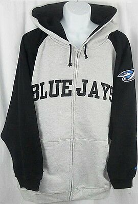 Toronto Blue Jays MLB Majestic Full Zip Hoodie Sweatshirt Big & Tall  Sizes