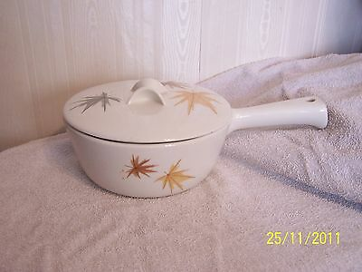 Vintage Iroquois Informal True China Ware, USA 7 3/4'', Sauce Pan, With Lid Ex C