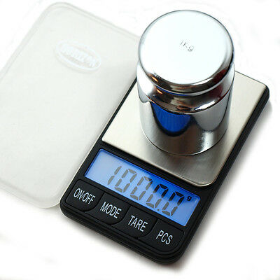 HORIZON 1000g x 0.1g Digital Pocket  Scale with 1000g Calibration Weight