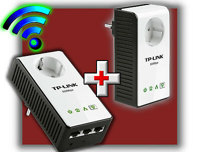 TP-LINK TL-WPA4230P AV500 POWERLINE NETZWERKADAPTER REPEATER 500/300Mbps 2er SET