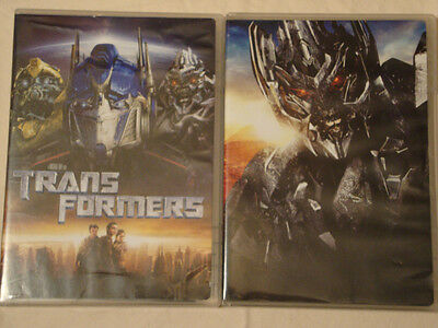 TRANSFORMERS 1 & 2 REVENGE OF THE FALLEN 4-Disc DVD Movie Set Lot TRANS FORMERS