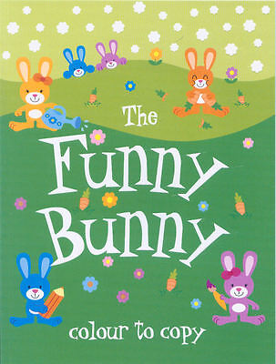 Young Children's Activity Colouring Book: Colour To Copy: The Funny Bunny