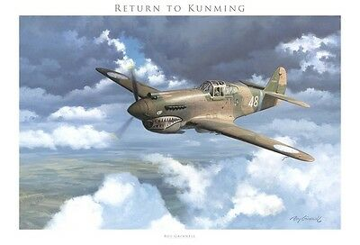 """Return to Kunming"" de Roy Grinnell (P-40 Tomahawk, Flying Tigers)"