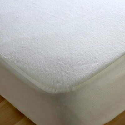 Waterproof Terry Mattress Protector Cotton Blend Anti Dust Mite & Breathable