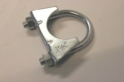 """Universal Exhaust U Bolt Clamp 42mm 1.65"""" 1 5/8"""" Heavy Duty Clamps Clip"""