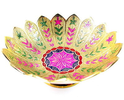Brass Bowl Hand Engraved Indian Antique Vintage style solid deco High quality
