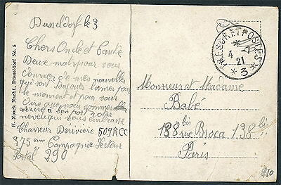 French Occupation of Rhineland - T & P 3 Dusseldorf - FPO 290 S1242