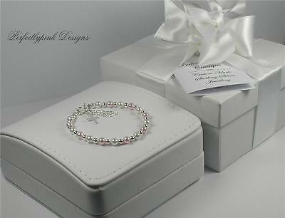 Christening Gift  Pearl Sterling Silver Baby Bracelet - Grow-with-me-Range.