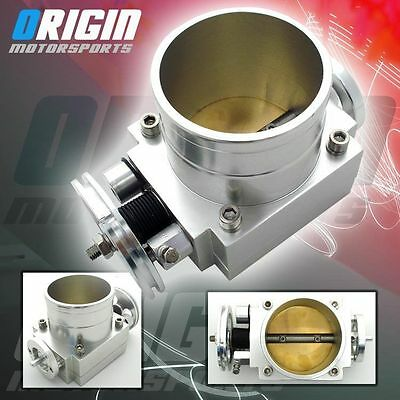 Silver 70MM 70 MM Universal Intake Manifold CNC Billet Aluminum Throttle Body