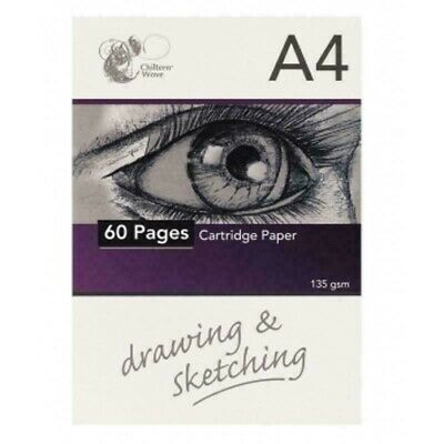 A4 Drawing Sketching Sketch Paper 40 Sheets 135Gsm Cartridge Artists Pad Spa4Hb