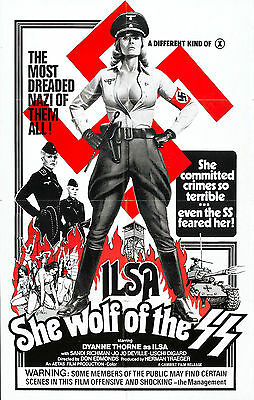 ILSA SHE WOLF OF THE SS Movie Poster Naziploitation Nazi