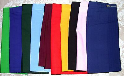 Pleated Polyviscose Skirts Ten Colours in Ladies Sizes 4 - 24  Netball  School