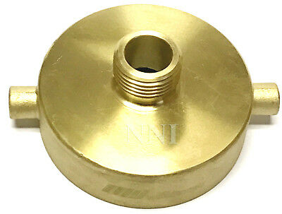 "NNI 2-1/2"" Female NST x 3/4"" Male GHT GARDEN HOSE, HYDRANT BRASS ADAPTER"