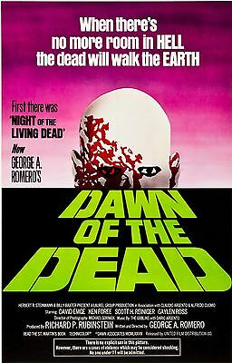 DAWN OF THE DEAD Movie Poster Horror Zombies
