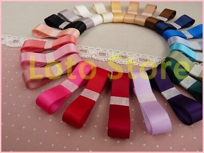 All Size Double face Wedding Gift Grosgrain Ribbon Craft 30 colors 9/16/25/38mm