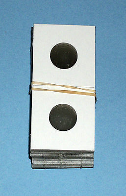 One Hundred (100) Nickel Size 2X2 Cardboard/Mylar Coin Holders Flips