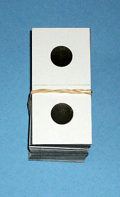 One Hundred (100) Dime Size 2X2 Cardboard/Mylar Coin Holders Flips